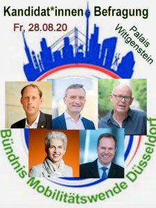 Flyer mit den Gesichtern der Kandidaten und Logo vom Bündnis
